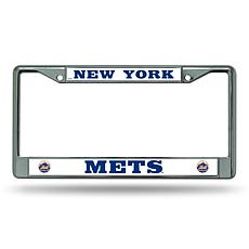 MLB Chrome License Plate Frame - Mets