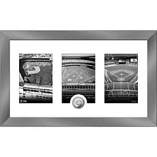 MLB Cincinnati Reds Art Deco Silver-Plated Coin Photo Mint