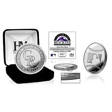 MLB Colorado Rockies Silver-Plated Coin
