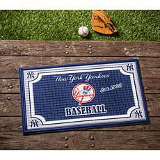 MLB Embossed Door Mat - New York Yankees