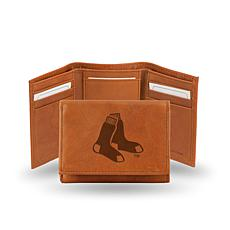 MLB Embossed Trifold Wallet - Red Sox