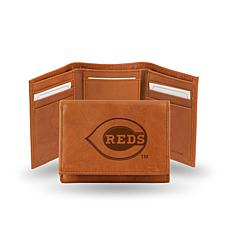 MLB Embossed Trifold Wallet - Reds