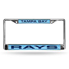 MLB Laser-Cut Chrome License Plate Frame - Rays