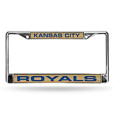 MLB Laser-Cut Chrome License Plate Frame - Royals