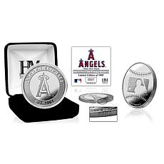 MLB Los Angeles Angels Silver-Plated Coin