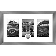 MLB Milwaukee Brewers Art Deco Silver-Plated Coin Photo Mint