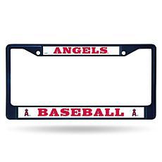 MLB Navy Chrome License Plate Frame - Angels