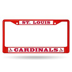 MLB Red Chrome License Plate Frame - Cardinals