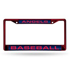 MLB Red Laser-Cut Chrome License Plate Frame -  Angels