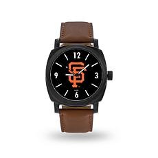 "MLB Sparo ""Knight"" Faux Leather Watch - Giants"