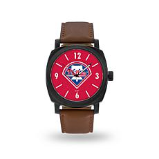 "MLB Sparo ""Knight"" Faux Leather Watch - Phillies"