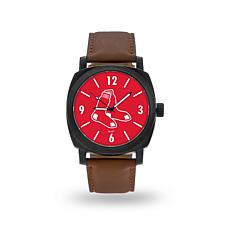 "MLB Sparo ""Knight"" Faux Leather Watch - Red Sox"