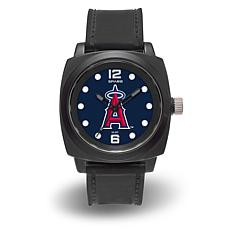 "MLB Sparo Team Logo ""Prompt"" Black Strap Sports Watch - Angels"