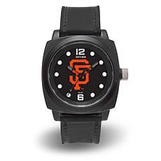 "MLB Sparo Team Logo ""Prompt"" Black Strap Sports Watch - Giants"