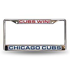 """MLB """"Win"""" Laser-Cut Frame - Cubs"""