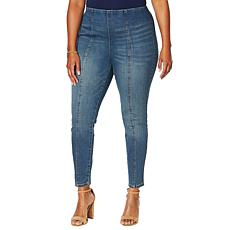 Motto Contour Seamed Stretch Denim Ankle Jean