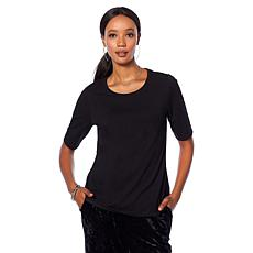 Motto Easy Scoop-Neck Hi-Low Tee - Basic