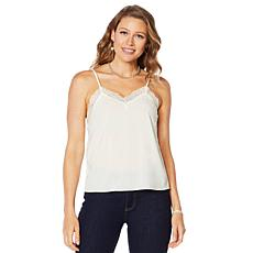 Motto Lace Trim Tank Top