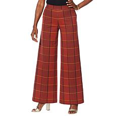 Motto Ponte Knit Pull-On Wide-Leg Pant