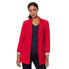 Motto Roll-Sleeve Relaxed Boyfriend Blazer