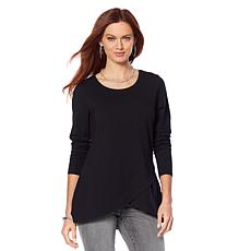 Motto Tulip-Hem Long-Sleeve Top  - Basic