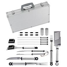 Mr. Bar-B-Q 21-Piece Tool Set with Aluminum Case