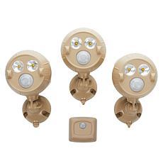 Mr. Beams UltraBright NetBright Spotlight 3-pk w/ Motion Sensor