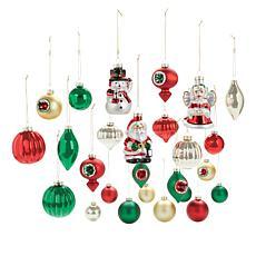 Mr. Christmas 26-piece Vintage Glass Ornament Set
