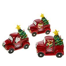 Mr. Christmas 3-pack Battery-Operated Mini Nostalgic Trucks with Timer