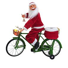 Mr. Christmas Cycling Santa