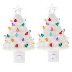 Mr. Christmas Nostalgic Tree Nightlights Set of 2