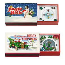 Mr. Christmas Set of 2 Musical Matchboxes