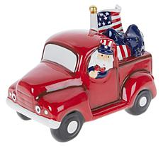 Mr. Liberty Uncle Sam Red Ceramic Truck with 4-Hour Timer