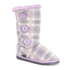 MUK LUKS Girl's Malena Plaid Boots