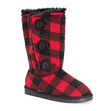MUK LUKS Girl's Malena Plaid Boots