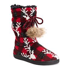 MUK LUKS Gladys Mid-Calf Slipper Boot
