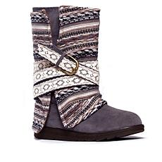MUK LUKS Nikki Belted Boot with Removable Overlay