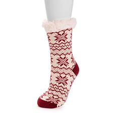 MUK LUKS Patterned Cabin Socks