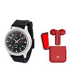MyKronoz ZeRound3 Smartwatch HR with Wireless ZeBuds
