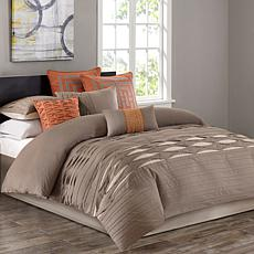 N Natori Nara Cotton Comforter Set - King/Neutral