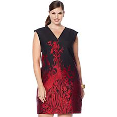 N Natori Peacock Jacquard Knit Dress
