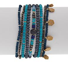 Nakamol Beaded 9-Layer Dangle Bracelet