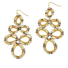 Nakamol Crystal Multi-Pear Shape Drop Earrings