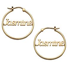Name Small 25mm Hoop Earrings