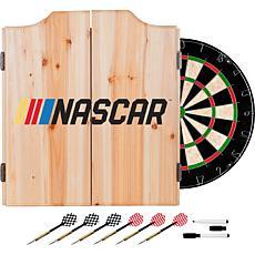 NASCAR Beveled Wood Dart Cabinet Set