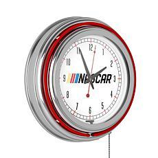 NASCAR Chrome Double Ring Neon Clock