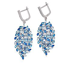 "Natalie Mills ""Valencia"" Leaf Design Drop Earrings"