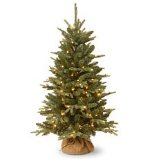 National Tree 4' Burlap Tree with 150 Clear Lights