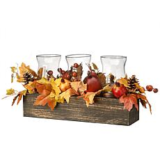 """National Tree Company 24"""" Maple Leaves Candleholder Centerpiece"""