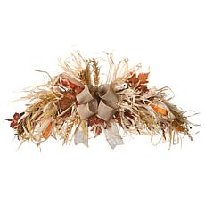 """National Tree Company 32"""" Harvest Raffia Door Swag with Maple Leaves"""